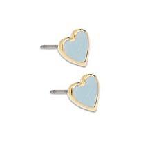 Σκουλαρίκια καρδιά με σμάλτο